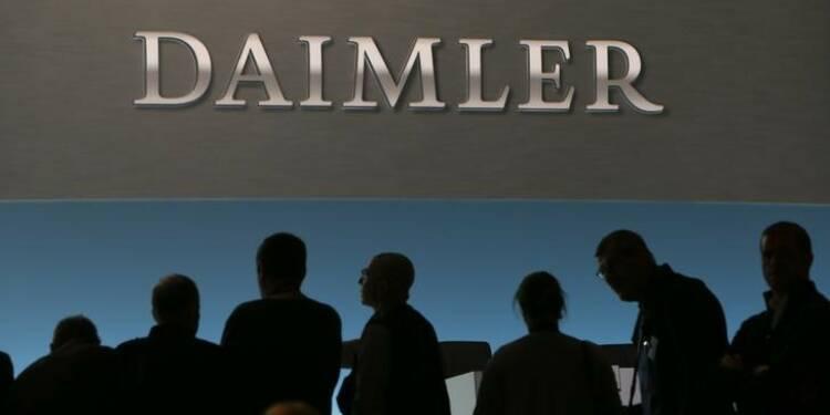 Daimler: Résultat d'exploitation du premier trimestre meilleur que prévu