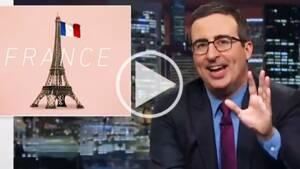 L'humoriste britannique John Oliver se moque de la campagne présidentielle française