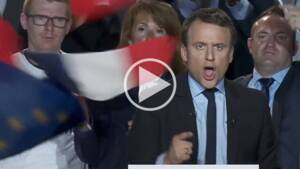 A Arras, Emmanuel Macron hurle littéralement contre le Front national [VIDEO]