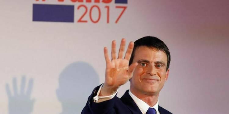 Valls, devancé par Hamon, appelle à la mobilisation
